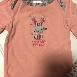 Baby Gear Matching Sets - Baby Gear Girl 3-6M matching some bunny loves you